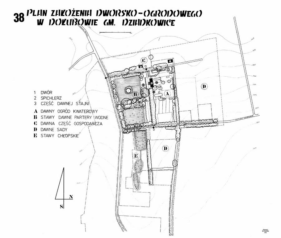 plan-zalozenia-dworsko-ogrodowego-w-dolubowie-stan-z-1988-r
